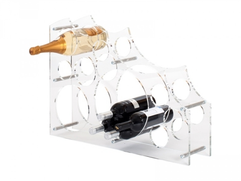 Portabottiglie in Plexiglass a Moduli Circolari